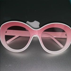 Chanel pink and white glasses